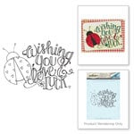Spellbinders - Happy Grams 3 Collection - Cling Mounted Stamps - Wishing You