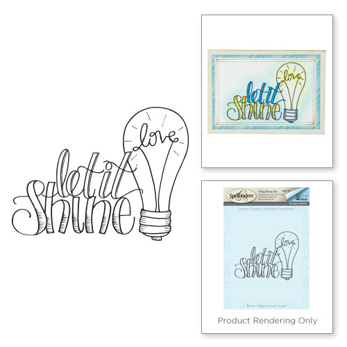 Spellbinders - Happy Grams 3 Collection - Cling Mounted Stamps - Let it Shine