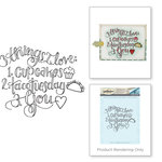 Spellbinders - Happy Grams 3 Collection - Cling Mounted Stamps - Things I Love