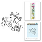Spellbinders - Bible Journaling Collection - Clear Acrylic Stamps - Butterflies