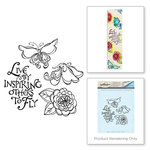 Spellbinders - Bible Journaling Collection - Clear Acrylic Stamps - Live by Inspiring