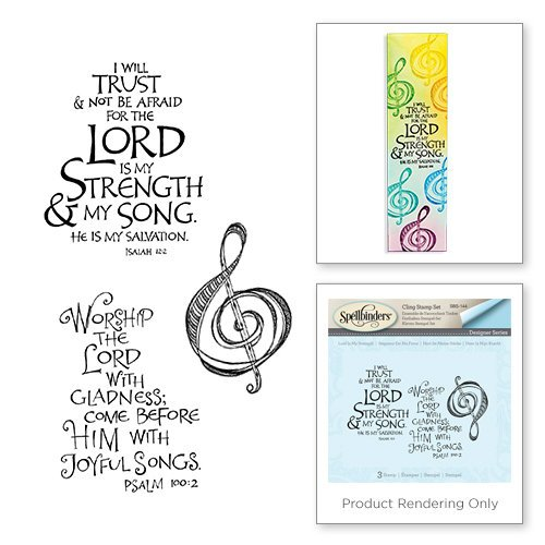 Spellbinders - Bible Journaling Collection - Clear Acrylic Stamps - Lord is My Strength