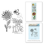 Spellbinders - Bible Journaling Collection - Clear Acrylic Stamps - Choose Life