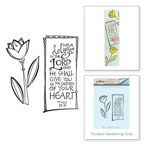 Spellbinders - Bible Journaling Collection - Clear Acrylic Stamps - Take Delight