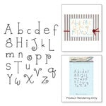 Spellbinders - My Little Red Wagon Collection - Cling Mounted Rubber Stamps - Whimsy Alphabet