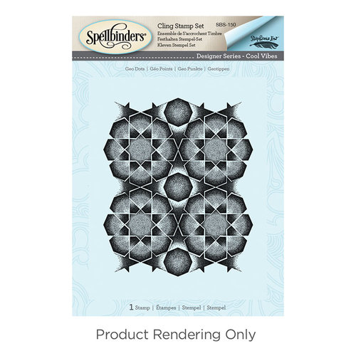 Spellbinders - Cool Vibes Collection - Cling Mounted Stamps - Geo Dots