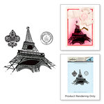 Spellbinders - Ooh La La Collection - Cling Mounted Stamps - Paris Collage Stamps