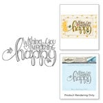 Spellbinders - Happy Grams 4 Collection - Cling Mounted Stamps - Everything Happy