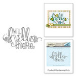 Spellbinders - Happy Grams 4 Collection - Cling Mounted Stamps - Hello There