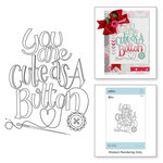 Spellbinders - Sew Sweet Collection - Clear Acrylic Stamps - Cute as a Button