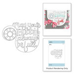 Spellbinders - Sew Sweet Collection - Clear Acrylic Stamps - Bobbin Wishes
