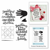Spellbinders - Sew Sweet Collection - Clear Acrylic Stamps - Hashtag Handmade
