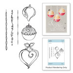 Spellbinders - Zenspired Holidays Collection - Christmas - Cling Rubber Stamps - Dangling Ornaments