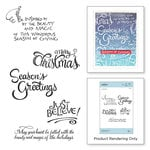 Spellbinders - Zenspired Holidays Collection - Christmas - Cling Rubber Stamps - Christmas Sentiments