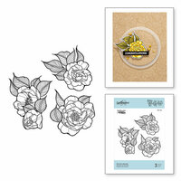 Spellbinders - Just Add Color Collection - Cling Mounted Rubber Stamps - Peonies Bundle