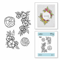 Spellbinders - Just Add Color Collection - Cling Mounted Rubber Stamps - Little Flowers
