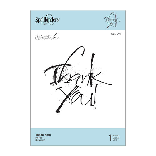 Spellbinders - PA Scribe Collection - Clear Photopolymer Cling Stamps - Thank You