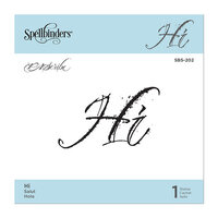 Spellbinders - PA Scribe Collection - Clear Photopolymer Cling Stamps - Hi