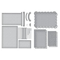Spellbinders - Make A Scene Collection - Etched Dies - Scallop Facade Frame Bundle