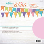 Spellbinders - Celebrations Collection - 12 x 12 Paper Pack - Assorted Solid