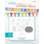 Spellbinders - Celebrations Collection - Clear Acrylic Stamps - Sweet