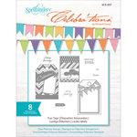 Spellbinders - Celebrations Collection - Clear Acrylic Stamps - Fun Tags