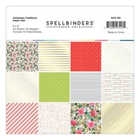 Spellbinders - Christmas Traditions Collection - 6 x 6 Paper Pad
