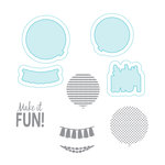 Spellbinders - Celebrations Days Collection - Die and Clear Acrylic Stamp Set - Balloon Fun