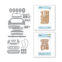 Spellbinders - Flourished Fretwork Collection - Etched Dies - Sunday Drive - Hitched Bundle