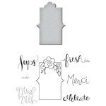 Spellbinders - Quite Contrary Collection - Die and Clear Acrylic Stamp Set - Fresh Sentiments