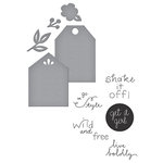 Spellbinders - Quite Contrary Collection - Die and Clear Acrylic Stamp Set - Simply Me