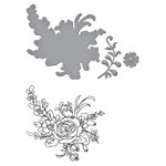 Spellbinders - Donna Salazar Collection - Die and Clear Acrylic Stamp Set - Flower Bouquet