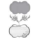 Spellbinders - Donna Salazar Collection - Die and Clear Acrylic Stamp Set - Always Remember