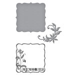 Spellbinders - Donna Salazar Collection - Die and Clear Acrylic Stamp Set - Memories