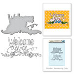 Spellbinders - Happy Grams 2 Collection - Die and Cling Mounted Rubber Stamps - Welcome Wee One