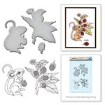 Spellbinders - Earth Air Water Collection - Die and Cling Mounted Rubber Stamps - Mouse