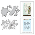 Spellbinders - Earth Air Water Collection - Die and Cling Mounted Rubber Stamps - Feather