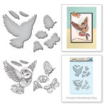 Spellbinders - Earth Air Water Collection - Die and Cling Mounted Rubber Stamps - Owl