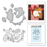 Spellbinders - Earth Air Water Collection - Die and Cling Mounted Rubber Stamps - Squirrel