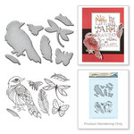 Spellbinders - Earth Air Water Collection - Die and Cling Mounted Rubber Stamps - Sparrow