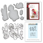 Spellbinders - Earth Air Water Collection - Die and Cling Mounted Rubber Stamps - Snail