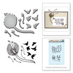 Spellbinders - Earth Air Water Collection - Die and Cling Mounted Rubber Stamps - Dandelion