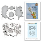 Spellbinders - Earth Air Water Collection - Die and Cling Mounted Rubber Stamps - Jelly