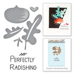 Spellbinders - Market Fresh Collection - Die and Cling Mounted Rubber Stamps - Perfectly Radishing