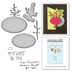 Spellbinders - Market Fresh Collection - Die and Cling Mounted Rubber Stamps - Beets Me
