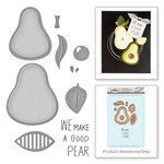 Spellbinders - Market Fresh Collection - Die and Cling Mounted Rubber Stamps - The Pearfect Avocado