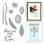 Spellbinders - Market Fresh Collection - Die and Cling Mounted Rubber Stamps - Olive Me