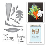 Spellbinders - Market Fresh Collection - Die and Cling Mounted Rubber Stamps - Peas and Carrots