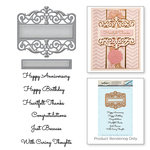 Spellbinders - Vintage Elegance Collection - Die and Cling Mounted Stamps - Giving Occasions
