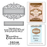 Spellbinders - Vintage Elegance Collection - Die and Cling Mounted Stamps - Beautiful Dreamer